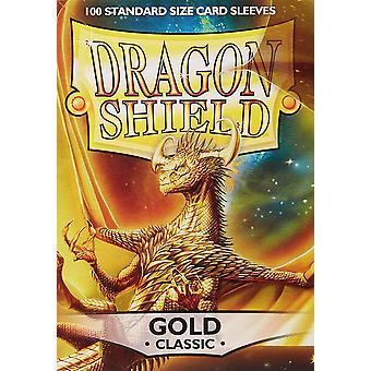 Dragon Shield Standard Gold Card Sleeves - 100 Sleeves