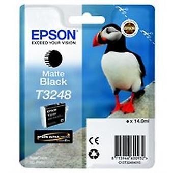 Epson C13T32484010 (T3248) Ink cartridge black matt, 650 pages, 14ml