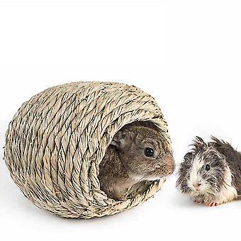 Olki kani Pesä Reed Lehdet Lemmikkitarvikkeet Orava Marsu Mini Kani Pesä