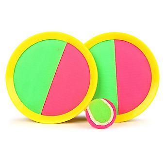 Paddle Toss en Catch Ball Set, Catch Games Speelgoed voor kinderen / volwassenen (Geel)