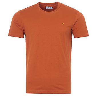 Farah Danny Organic Cotton Slim Fit T-Shirt - Raw Umber