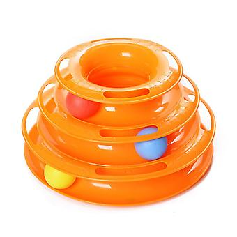 Pets Interactive Toys Cats Three-tier / Four-tier Turntable Pet Intellectual Track Tower Funny Cat Toy Plate 3 4 Balls 4 Levels