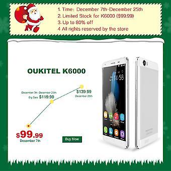 Oukitel K6000 5,5'' Touchscreen Dual Sim Dual Standby Vier-Kern-Smart Phone