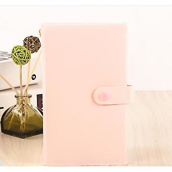 Case Ticket Collection Book Stocks Cartoon Card Book Home Picture Case Aufbewahrung (pink)