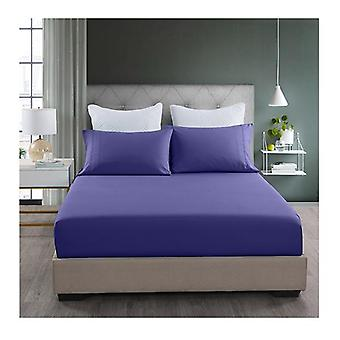 Royal Blue Fitted Sheet and Pillowcase Set