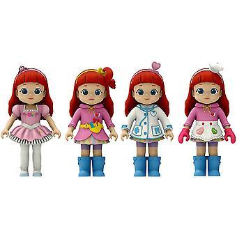 4-Pack Rainbow City Hero Rainbow Ruby Dolls 8cm