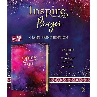 NLT إلهام الصلاة الكتاب المقدس العملاق طباعة LeatherLike الأرجواني من قبل Tyndale