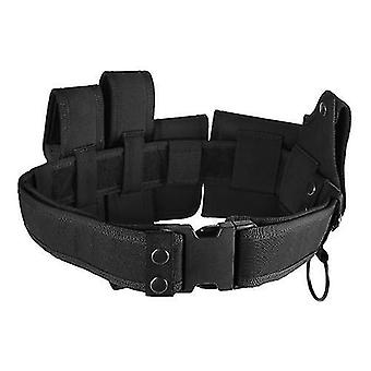 Climbing webbing outdoor tactical belt law enforcement modular equipment police security military duty utility belt with pouches holster gear