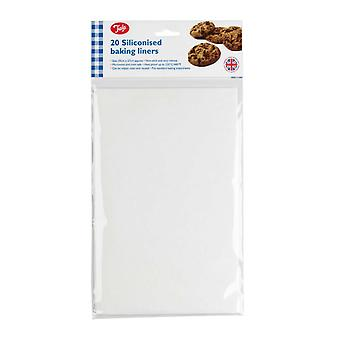 Tala 34x27cm Rectangular G/proof Paper Pk 20 - Baking Liners Siliconised x - baking tala 20 liners