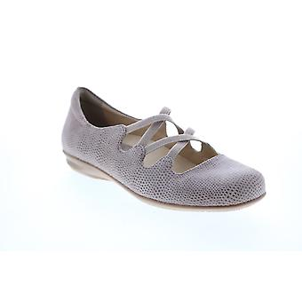 Earthies Adult Womens Clare Cross Strap Flat Ballet Flats