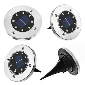 4Pcs 8 LED Soldrevne jordbelysning Udendørs lampe