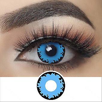 Sininen kosketus silmään