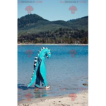 Mascote REDBROKOLY.COM monstro dragão azul do Lago Ness