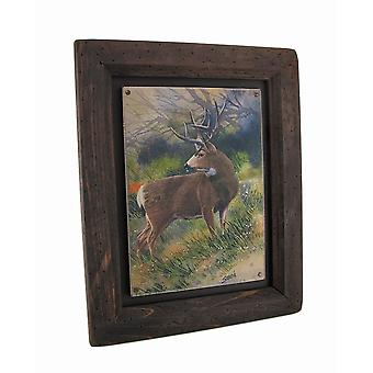 Big Sky Carvers Whitetail Deer Wood Frame Wall Art