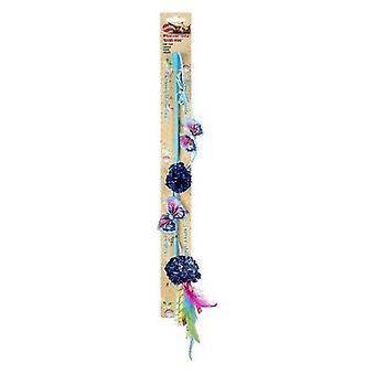 Spot Butterfly och Mylar Teaser Wand Cat Toy - Olika färger - 1 räkning