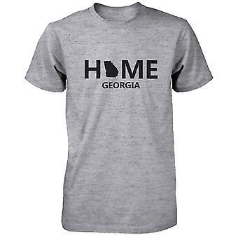 Home GA State Grey Men's T-Shirt US Georgia Hometown Cotton Tee