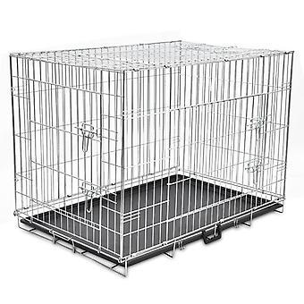 Sammenklappelig hund Cage Metal XL