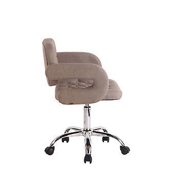 Office Chair - Desk Chair - Home Office - Modern - Taupe - Metal - 62 cm x 55 cm x 78 cm