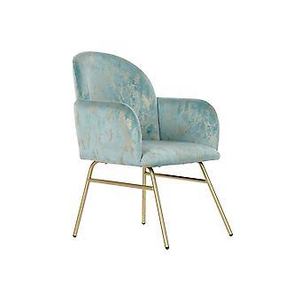 Armchair DKD Home Decor Green Polyester Metal Golden (63 x 65 x 87 cm)