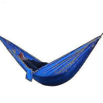 الأراجيح 270 * 140cm المحمولة النايلون في الهواء الطلق أرجوحة الظهر الأزرق