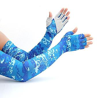Anti-skid halvfinger arm is silke lange ærmer