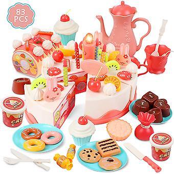 Kinderen verjaardag cake speelgoed thee party set