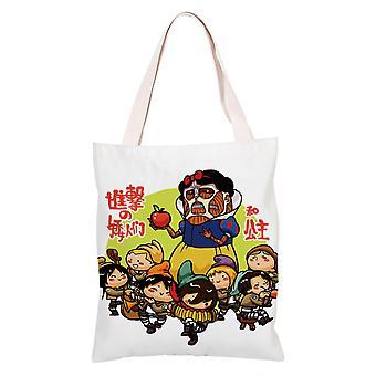 الكرتون أنيمي قماش حقيبة التسوق حمل، الهجوم على تيتان #10