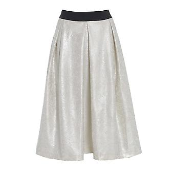 Long Flared Ivory skater Skirt SK200-12