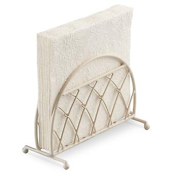 Ambiente-Lattice Design aufrecht Serviettenhalter, Creme