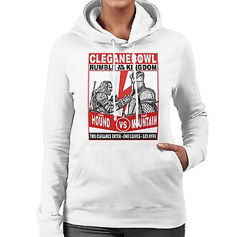Rumble In The Kingdom The Hound Vs The Mountain Game Of Thrones Women's Hooded Sweatshirt