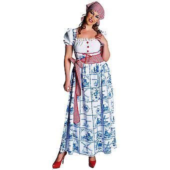 Vrouwen kostuums vrouwen Dirndl jurk holland blauw