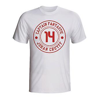 Johan Cruijff Ajax Captain Fantastic T-shirt (wit)