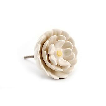 CGB Giftware White Flower Drawer Handle