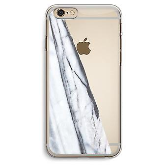 iPhone 6 Plus / 6S Plus Transparent Case (Soft) - Striped marble