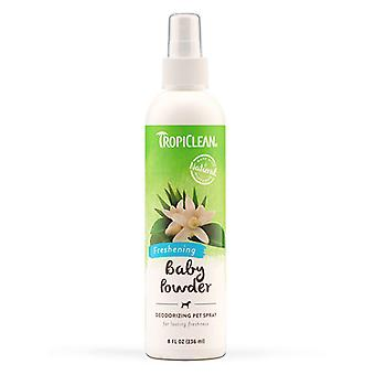 Tropiclean Natural Freshning Baby Powder Deodorizing Pet Spray