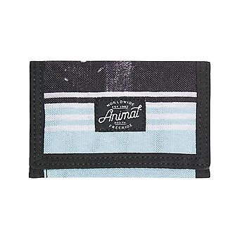 Animal Exploited Polyester Wallet in Clearwater Blue