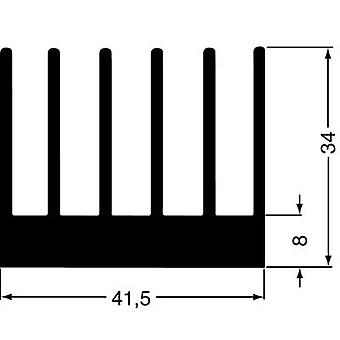 Fischer Elektronik SK 189 100 SA Fin heat sink 2.8 K/W (L x W x H) 100 x 41.5 x 34 mm