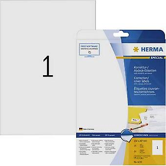 Herma 4230 Labels 210 x 297 mm Paper White 25 pc(s) Permanent Correction labels, Patches Inkjet, Laser, Copier 25 Sheet A4
