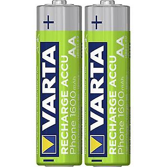 Varta Phone HR06 AA battery (rechargeable) NiMH 1600 mAh 1.2 V 2 pc(s)