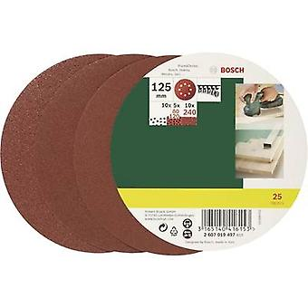 Bosch Accessories 2607019497 Router sandpaper set Hook-and-loop-backed, Punched Grit size 80, 120, 240 (Ø) 125 mm 1 Set