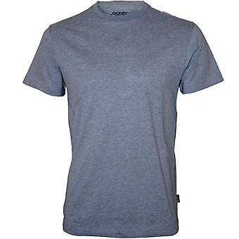 Jockey-Crew-Neck T-Shirt Jersey aus Baumwolle, blau