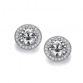 Cavendish French Diamond Style Solitaire Earrings