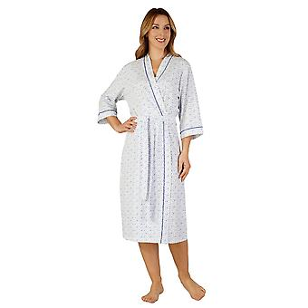 Slenderella HC3115 Women's Cotton Jersey Sabahlık Salon Elbise Bornoz Kimono