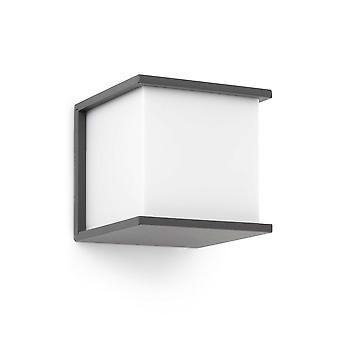 Faro - Kubick mørke grå udendørs væg lys FARO70689