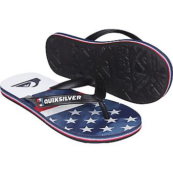 Quiksilver Mens Molokai Freedom Sandals - Blue/Red/White