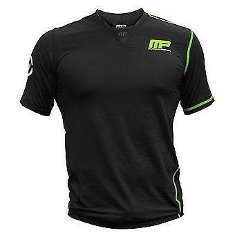 MusclePharm Mens MP Virus V-Neck Functional Fit Training Top - Black - fitness