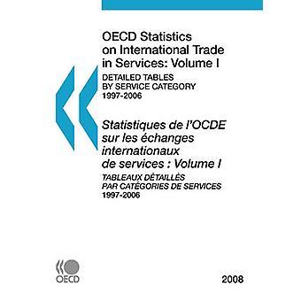 Estatísticas da OCDE sobre comércio internacional de serviços 2008 Volume I detalhadas tabelas por categoria de serviço pela OECD Publishing