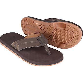 Para hombre Quiksilver Oasis costero II Casual sandalias para la playa - marrón oscuro