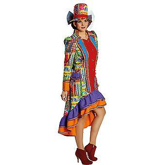 Hullu folk Lady naisten puku pukeutua karnevaali Mardi