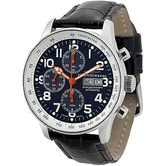 Zeno-watch mens watch X-large pilot chronograph-date special P557TVDD-b15